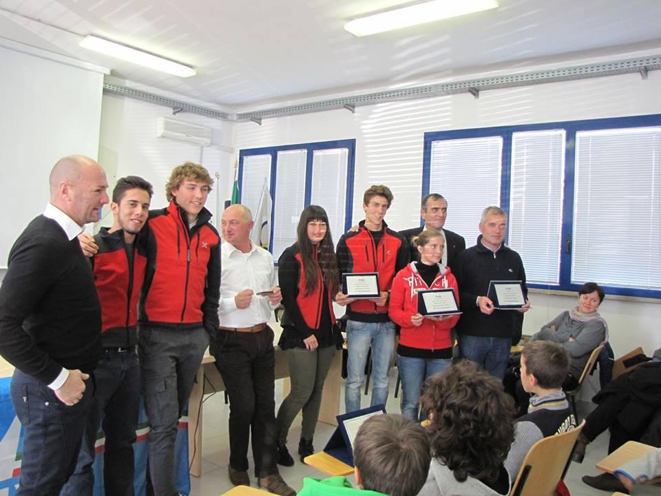 Il podio del Campionato Zonale Minialtura