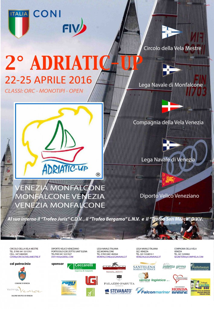 adriatic up circolo della vela mestre lega navale italiana monfalcone compagnia della vela venezia diporto velico veneziano trofeo juris bergamo san marco